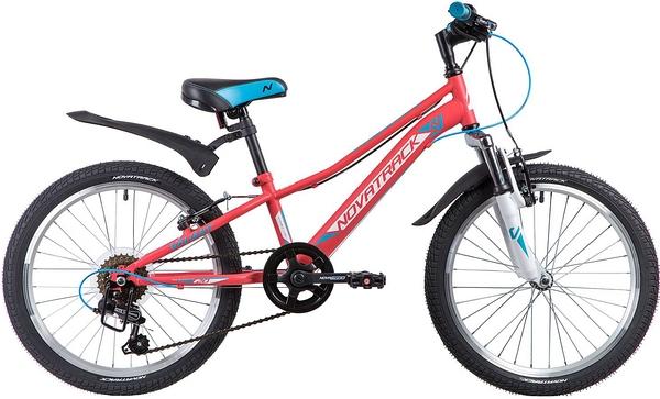 """133981 2 - Велосипед NOVATRACK VALIANT, Скоростной, р. 9,5"""", колеса 20"""", цвет Коралловый, 2020г."""