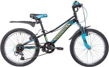 """133982 2 350x216 - Велосипед NOVATRACK VALIANT, Скоростной, р. 9,5"""", колеса 20"""", цвет Черный, 2020г."""