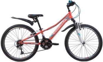 """133985 2 350x212 - Велосипед NOVATRACK VALIANT, Скоростной, р. 10"""", колеса 24"""", цвет Коралловый, 2020г."""