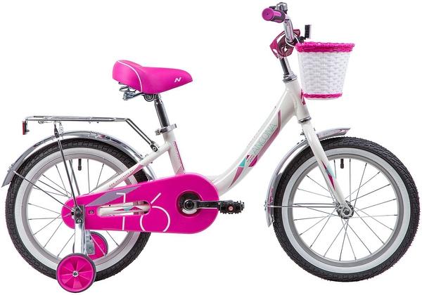 """133988 2 - Велосипед NOVATRACK ANCONA, Детский, р. 10,5"""", колеса 16"""", цвет Белый, 2020г."""
