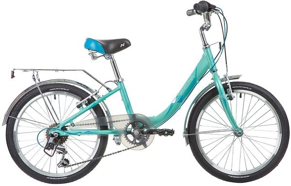 """133989 2 - Велосипед NOVATRACK ANCONA, Скоростной, р. 11"""", колеса 20"""", цвет Зеленый, 2020г."""