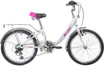 """133990 2 350x225 - Велосипед NOVATRACK ANCONA, Скоростной, р. 11"""", колеса 20"""", цвет Белый, 2020г."""