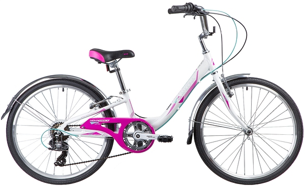 """133991 2 - Велосипед NOVATRACK ANCONA, Скоростной, р. 10"""", колеса 24"""", цвет Белый, 2020г."""