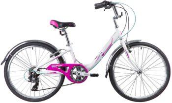 """133992 2 350x211 - Велосипед NOVATRACK ANCONA, Скоростной, р. 12"""", колеса 24"""", цвет Белый, 2020г."""