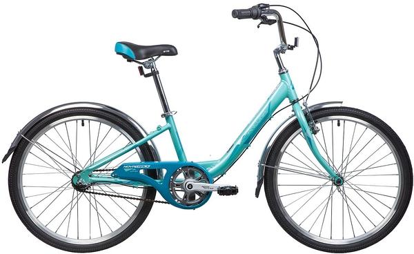 """133994 2 - Велосипед NOVATRACK ANCONA, Скоростной, р. 12"""", колеса 24"""", цвет Зеленый, 2020г."""
