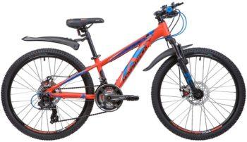 """133997 2 350x202 - Велосипед NOVATRACK EXTREME, Скоростной, р. 11"""", колеса 24"""", цвет Оранжевый, 2020г."""