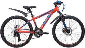"""133998 2 350x198 - Велосипед NOVATRACK EXTREME, Скоростной, р. 13"""", колеса 24"""", цвет Оранжевый, 2020г."""