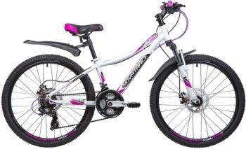 """134002 2 350x213 - Велосипед NOVATRACK KATRINA, Скоростной, р. 12"""", колеса 24"""", цвет Белый, 2020г."""