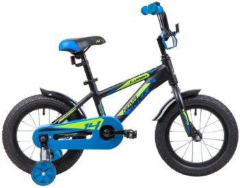 """134004 2 350x274 - Велосипед NOVATRACK LUMEN, Детский, р. 9"""", колеса 14"""", цвет Черный, 2020г."""