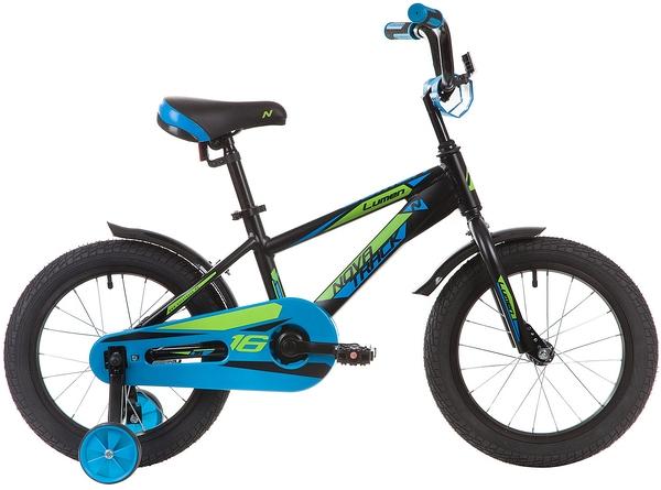 """134007 2 - Велосипед NOVATRACK LUMEN, Детский, р. 10,5"""", колеса 16"""", цвет Черный, 2020г."""