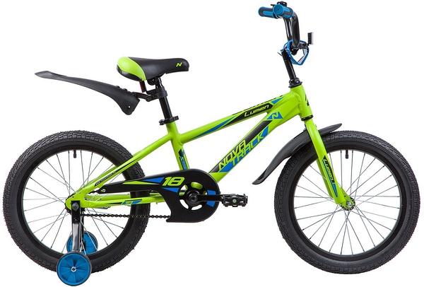"""134009 2 - Велосипед NOVATRACK LUMEN, Детский, р. 11,5"""", колеса 18"""", цвет Зеленый, 2020г."""