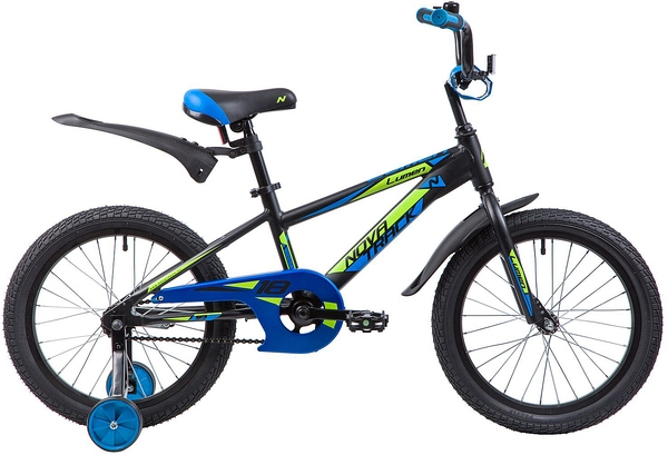"""134010 2 - Велосипед NOVATRACK LUMEN, Детский, р. 11,5"""", колеса 18"""", цвет Черный, 2020г."""