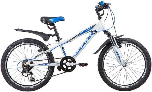 """134012 2 - Велосипед NOVATRACK LUMEN, Скоростной, р. 10"""", колеса 20"""", цвет Белый, 2020г."""