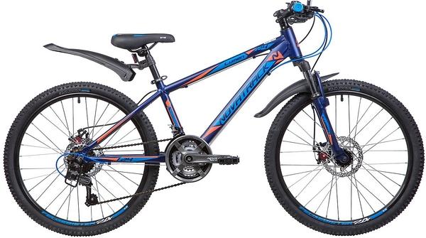 """134017 2 - Велосипед NOVATRACK LUMEN, Скоростной, р. 13"""", колеса 24"""", цвет Синий, 2020г."""