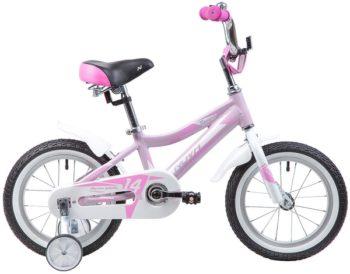 """134020 2 350x274 - Велосипед NOVATRACK NOVARA, Детский, р. 9"""", колеса 14"""", цвет Розовый, 2020г."""
