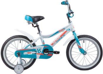 """134021 2 350x254 - Велосипед NOVATRACK NOVARA, Детский, р. 10,5"""", колеса 16"""", цвет Белый, 2020г."""