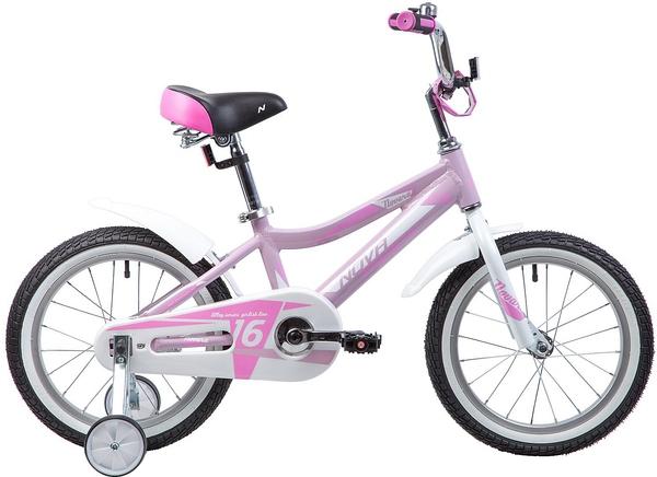 """134023 2 - Велосипед NOVATRACK NOVARA, Детский, р. 10,5"""", колеса 16"""", цвет Розовый, 2020г."""