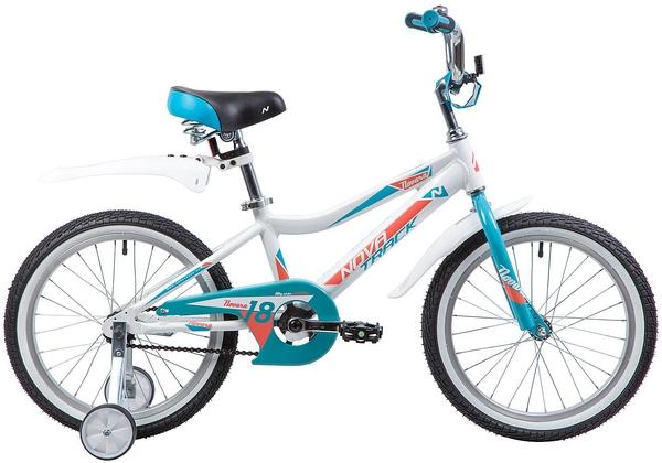 """134024 2 - Велосипед NOVATRACK NOVARA, Детский, р. 11,5"""", колеса 18"""", цвет Белый, 2020г."""