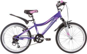 """134028 2 350x216 - Велосипед NOVATRACK NOVARA, Скоростной, р. 12"""", колеса 20"""", цвет Фиолетовый, 2020г."""
