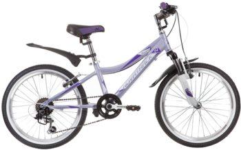 """134029 2 350x218 - Велосипед NOVATRACK NOVARA, Скоростной, р. 12"""", колеса 20"""", цвет Сиреневый, 2020г."""