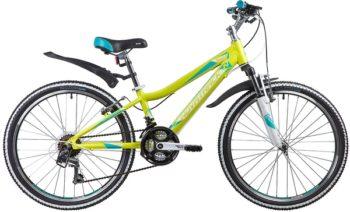 """134032 2 350x212 - Велосипед NOVATRACK NOVARA, Скоростной, р. 11"""", колеса 24"""", цвет Лаймовый, 2020г."""