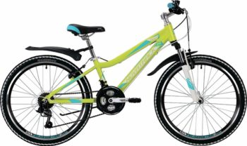 """134033 2 350x208 - Велосипед NOVATRACK NOVARA, Скоростной, р. 13"""", колеса 24"""", цвет Лаймовый, 2020г."""