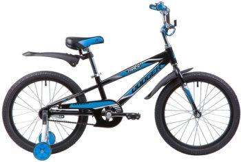 """134037 2 350x236 - Велосипед NOVATRACK DODGER, Детский, р. 12"""", колеса 20"""", цвет Черный, 2020г."""