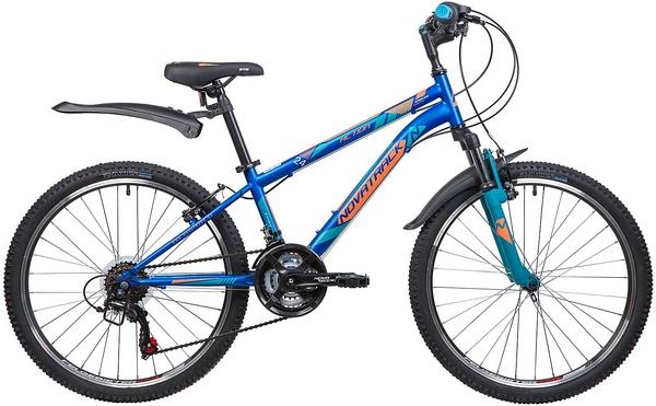 """134043 2 - Велосипед NOVATRACK ACTION, Скоростной, р. 12"""", колеса 24"""", цвет Синий, 2020г."""