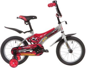 """134047 2 350x276 - Велосипед NOVATRACK FLIGHTLINE, Детский, р. 9"""", колеса 14"""", цвет Серый, 2020г."""
