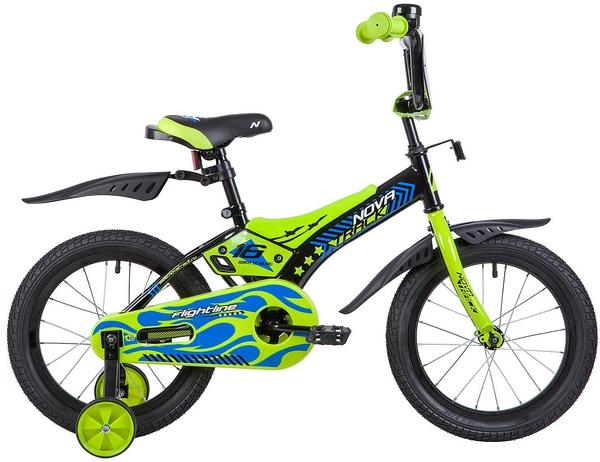 """134050 2 - Велосипед NOVATRACK FLIGHTLINE, Детский, р. 10,5"""", колеса 16"""", цвет Черный, 2020г."""