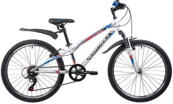 """134053 2 350x211 - Велосипед NOVATRACK EXTREME, Скоростной, р. 10"""", колеса 24"""", цвет Белый, 2020г."""