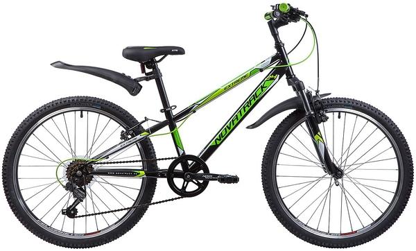 """134055 2 - Велосипед NOVATRACK EXTREME, Скоростной, р. 10"""", колеса 24"""", цвет Черный, 2020г."""