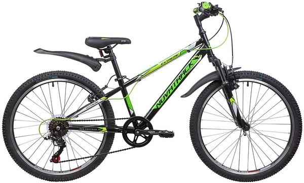 """134056 2 - Велосипед NOVATRACK EXTREME, Скоростной, р. 12"""", колеса 24"""", цвет Черный, 2020г."""