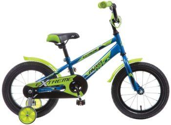 """134060 2 350x256 - Велосипед NOVATRACK EXTREME, Детский, р. 9"""", колеса 14"""", цвет Синий, 2020г."""