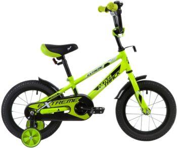 """134061 2 350x293 - Велосипед NOVATRACK EXTREME, Детский, р. 9"""", колеса 14"""", цвет Зеленый, 2020г."""