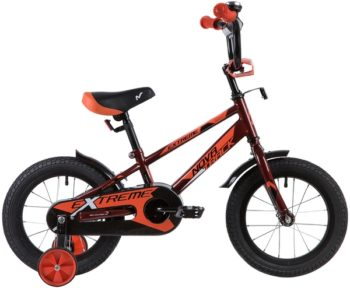 """134062 2 350x288 - Велосипед NOVATRACK EXTREME, Детский, р. 9"""", колеса 14"""", цвет Коричневый, 2020г."""