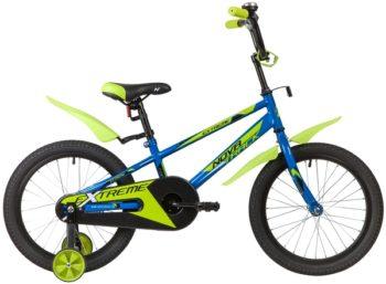"""134063 2 350x257 - Велосипед NOVATRACK EXTREME, Детский, р. 10,5"""", колеса 16"""", цвет Синий, 2020г."""