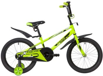 """134067 2 350x258 - Велосипед NOVATRACK EXTREME, Детский, р. 11,5"""", колеса 18"""", цвет Зеленый, 2020г."""