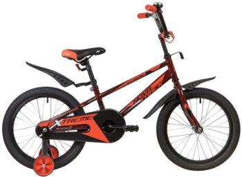 """134068 2 350x257 - Велосипед NOVATRACK EXTREME, Детский, р. 11,5"""", колеса 18"""", цвет Коричневый, 2020г."""