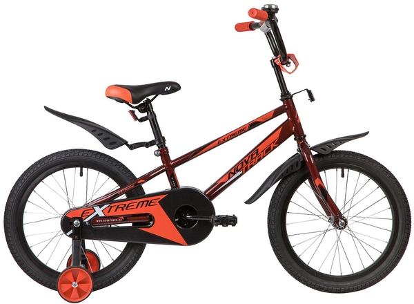 """134068 2 - Велосипед NOVATRACK EXTREME, Детский, р. 11,5"""", колеса 18"""", цвет Коричневый, 2020г."""