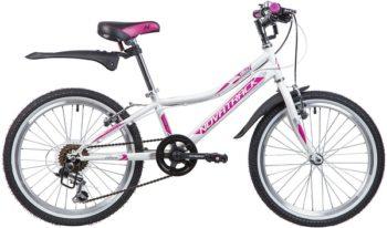 """134069 2 350x206 - Велосипед NOVATRACK ALICE, Скоростной, р. 10"""", колеса 20"""", цвет Белый, 2020г."""