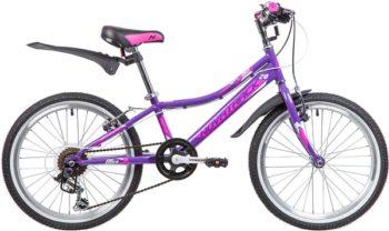 """134070 2 350x208 - Велосипед NOVATRACK ALICE, Скоростной, р. 10"""", колеса 20"""", цвет Фиолетовый, 2020г."""