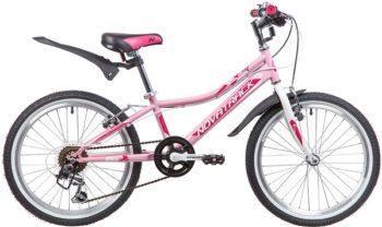 """134071 2 350x208 - Велосипед NOVATRACK ALICE, Скоростной, р. 10"""", колеса 20"""", цвет Розовый, 2020г."""