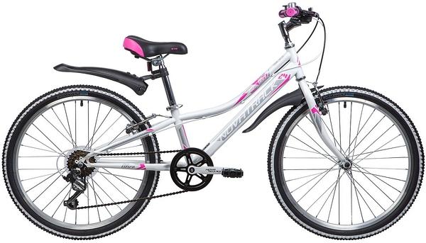 """134072 2 - Велосипед NOVATRACK ALICE, Скоростной, р. 10"""", колеса 24"""", цвет Белый, 2020г."""