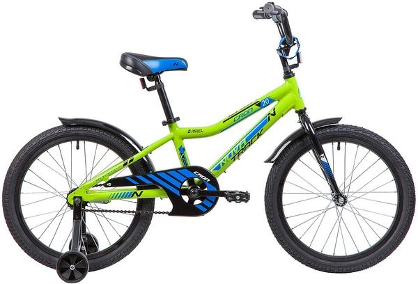 """134079 2 - Велосипед NOVATRACK CRON, Детский, р. 12"""", колеса 20"""", цвет Зеленый, 2020г."""