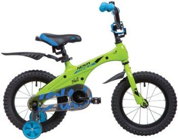 """134081 2 350x277 - Велосипед NOVATRACK BLAST, Детский, р. 9"""", колеса 14"""", цвет Зеленый, 2020г."""