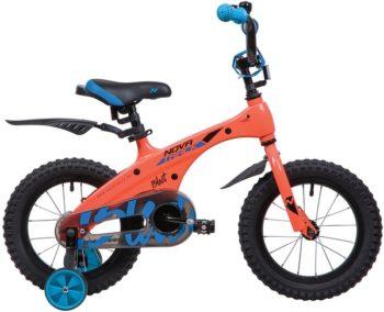 """134082 2 350x284 - Велосипед NOVATRACK BLAST, Детский, р. 9"""", колеса 14"""", цвет Оранжевый, 2020г."""