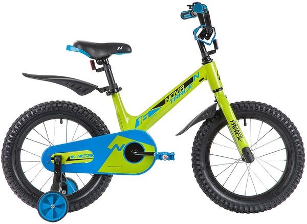 """134083 2 - Велосипед NOVATRACK BLAST, Детский, р. 10,5"""", колеса 16"""", цвет Зеленый, 2020г."""