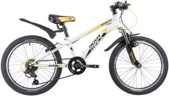 """134087 2 350x199 - Велосипед NOVATRACK POINTER, Скоростной, р. 10"""", колеса 20"""", цвет Белый, 2020г."""