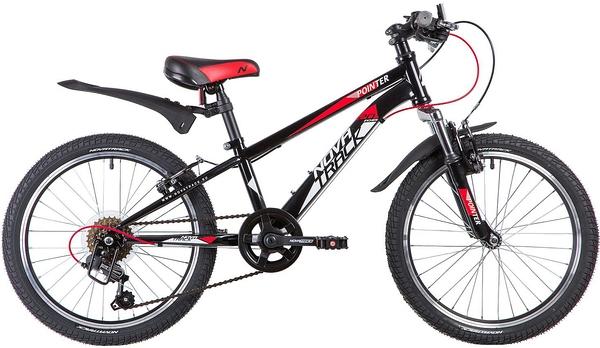 """134088 2 - Велосипед NOVATRACK POINTER, Скоростной, р. 10"""", колеса 20"""", цвет Черный, 2020г."""